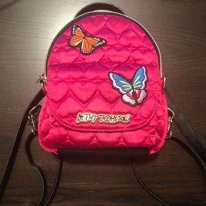 Betsey Johnson Satin Mini Backpack
